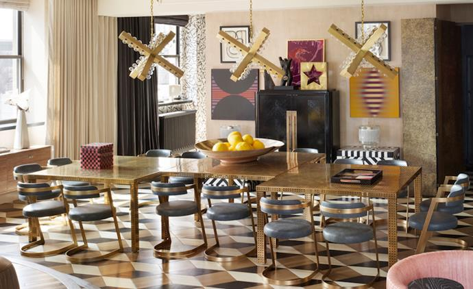 Get inspired with Kelly Wearstler's dining room ideas Kelly Wearstler Get inspired with Kelly Wearstler's dining room ideas dining room with gold accents Copy